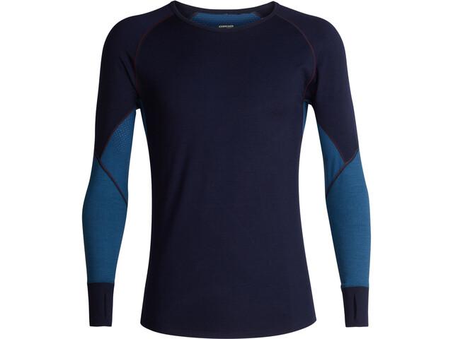 Icebreaker 260 Zone LS Crew Shirt Herre midnight navy/prussian blue